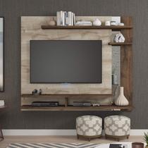 Painel para TV até 50 Polegadas com Espelho Bali Siena Móveis Rústico/Café -