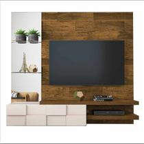 Painel para TV até 50 Polegadas com Espelho Turim DJ Móveis - Demolição/Off White -