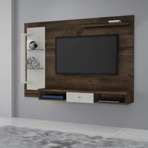 Painel para TV até 50 Polegadas Cromo JCM Móveis Cacau/Off -