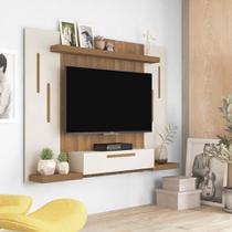 Painel para TV até 50 Polegadas Cronos Off White e Pinho - Artely