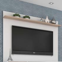 Painel para TV até 50 Polegadas Friso Siena e Branco 135 cm - Quiditá