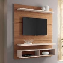 Painel para TV até 50 Polegadas Life Marrom Nature e Off White - Hb móveis