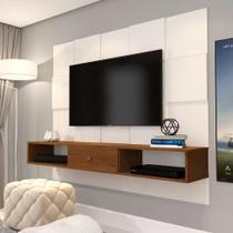 Painel para TV até 50 Polegadas Luxo Pérola e Caramelo - Jb bechara
