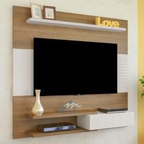 Painel Para Tv Até 50 Polegadas Monza Pinho/off White - Artely - Artely Móveis