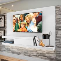 Painel para TV até 50 Polegadas Nath Branco 160 cm - Quiditá móveis