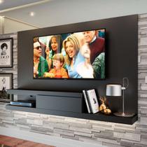Painel para TV até 50 Polegadas Nath Preto 160 cm - Quiditá móveis