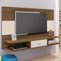Painel Para Tv Até 50 Polegadas Studio Amêndoa C/off White - Artely - Artely Móveis