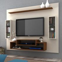 Painel Para TV Até 50 Polegadas Vivace 2 Nichos Off White/Nogeira - Megasul -
