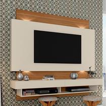 Painel para TV até 55 Polegadas 2 Gavetas LED TB115L Dalla Costa Off White/Freijó -