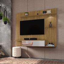 Painel para TV até 55 Polegadas com LED e Espelho Móveis Bechara Cinamomo -