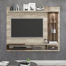Painel para TV até 55 Polegadas com LED Vitória Permobili Rústico/Café -