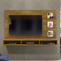 Painel para TV até 55 Polegadas com Porta Retratos e Nichos Ipanema Mavaular Mel -