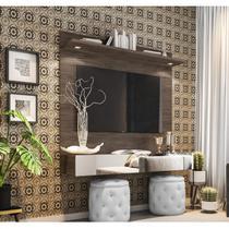 Painel  para TV até 55 Polegadas Espelho e LED Moscou Siena Móveis Avelã -