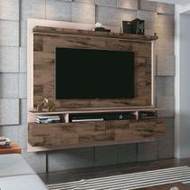Painel para TV até 55 Polegadas Limit I Marrom Deck e Off White - Hb móveis