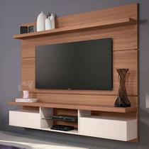 Painel para TV até 55 Polegadas Livin I Marrom Nature e Off White - Hb móveis
