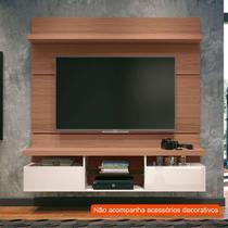 Painel para TV até 55 Polegadas Livin II Marrom Nature e Off White - Hb móveis