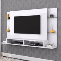 Painel para TV até 55 Polegadas Malbec Branco Belaflex Móveis - Mobler