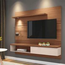 Painel para TV até 55 Polegadas Ores Marrom Nature e Off White - Hb móveis