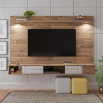 Painel Para TV até 55 Polegadas Platinum Com Espelho e Iluminação Led - Artely