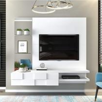 Painel para TV até  55 Polegadas Star Siena Móveis Branco -