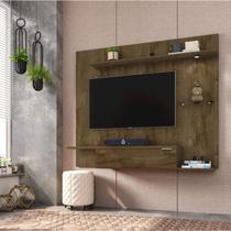 Painel para TV até 55 Polegadas Ubatuba Tradicional Moderno Móveis Bechara Madeira Rústica -