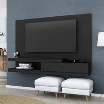Painel para TV até 55 polegadas  Veneza 1.8 Preto - Siena móveis