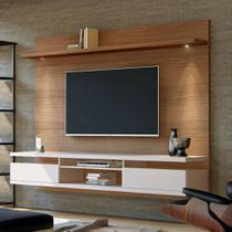 Painel para TV até 55 Polegadas Verona Noce e Off White 220 cm - Casa d