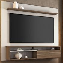 Painel Para Tv Até 60 Polegadas 1 Porta Nt1100 Off White/nogal Trend - Notavel - Notável Móveis