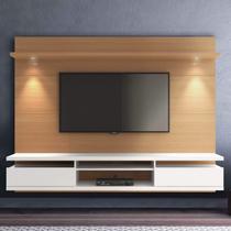 Painel para TV até 60 Polegadas 220cm com Spot de LED 2 Gavetas Verona Casa D Noce/Off White -