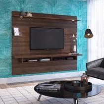 Painel para TV até 60 Polegadas 4 Prateleiras Fran Capuccino Móveis Chocolate Wood -