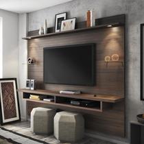 Painel para TV até 60 Polegadas 4 Prateleiras Veneza Siena Móveis Chocolate Wood -