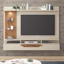 Painel para TV até 60 Polegadas com LED 1 Porta Lisboa Permobili Off White/Savana -