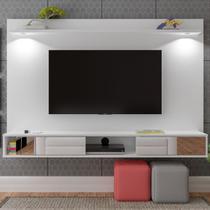 Painel Para Tv Até 60 Polegadas Malu Com Led 2 Portas Branco - Pnr Móveis -