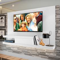 Painel para TV até 60 Polegadas Nath Branco 200 cm - Quiditá móveis