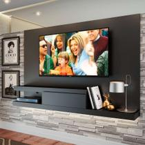 Painel para TV até 60 Polegadas Nath Preto 200 cm - Quiditá móveis