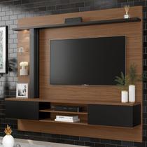 Painel Para Tv Até 60 Polegadas Salinas 1 Porta Noce Milano/preto Fosco - Colibri Móveis -