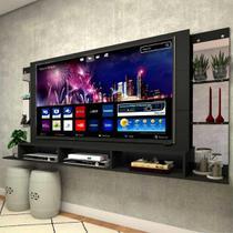 """Painel para TV até 65"""" com Espelho Nairóbi Plus Multimóveis Preto -"""