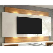 "Painel para TV até 65"" com LED TB133L - Off White/Freijó - Dalla costa"