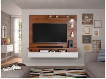 """Painel para TV até 65"""" Greco 3 Prateleiras - com luminária de LED Dj móveis"""