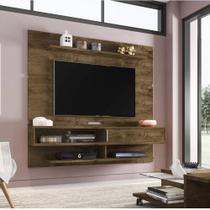 Painel para TV até 65 Polegadas 1 Porta Búzios Moderno Móveis Bechara Madeira Rústica/3D -