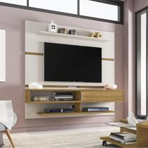 Painel para TV até 65 Polegadas 1 Porta Búzios Moderno Móveis Bechara Off-White/Cinamomo -