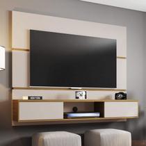 Painel para TV até 65 Polegadas 2 Portas Âmbar Móveis Bechara Off-White/Cinamomo -