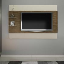 Painel para Tv até 65 Polegadas 2 Prateleiras Turim Valdemóveis Ipê/Off White -