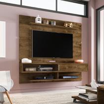 Painel para TV até 65 Polegadas Búzios Flex Color Madeira Rústica e Madeira 3D - Móveis bechara