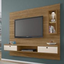 Painel para TV até 65 Polegadas com LED Bancada Diamante 2 Bechara Cinamomo Off White -
