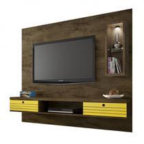 Painel para TV até 65 Polegadas com LED Bancada Diamante 2 Bechara MDR Amarelo -