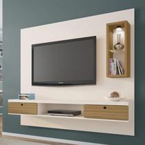 Painel para TV até 65 Polegadas com LED Bancada Diamante 2 Bechara Off Cinamomo -