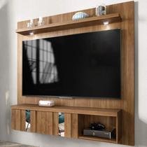 Painel para TV até 65 Polegadas Extensível com Espelho e LED Londrina Premium Caemmun Buriti -
