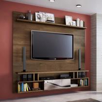 Painel para TV até 70 Polegadas 1 Porta New York Atualle Móveis Mocaccino Rústico -