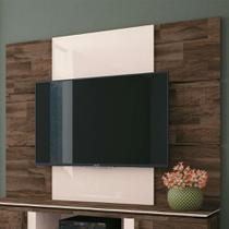 Painel para TV até 70 Polegadas Level Marrom Deck e Off White - Hb móveis